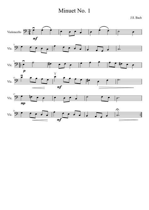 Minuet 1 Violin Suzuki Minuet No 1 J S Bach Sheet For Strings Musescore