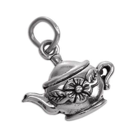 sterling silver teapot charm thecharmworks