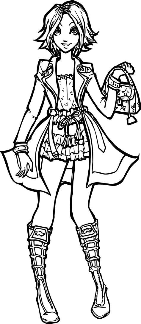 Modern Girl Coloring Page | rapunzel woman modern girl coloring page wecoloringpage