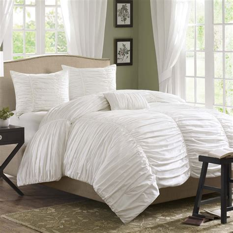 white comforter set madison park delancey comforter set color white size