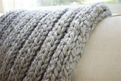 chunky rib stitch knit blanket pattern simplymaggie