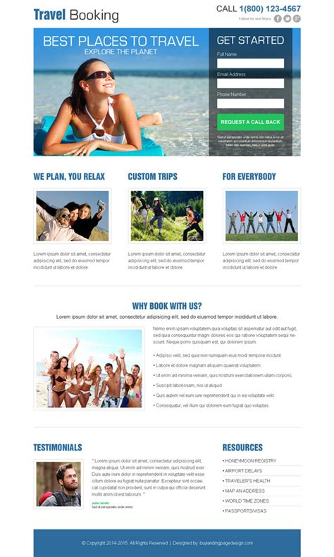 Free Landing Page Design Templates For Free Download Psd Html Free Lead Capture Page Templates