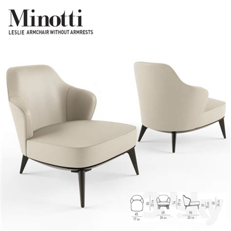minotti armchair 3d models arm chair minotti leslie armchair without