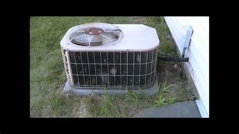 ton york olympian series air conditioner running
