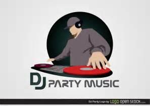 dj party logo free vector