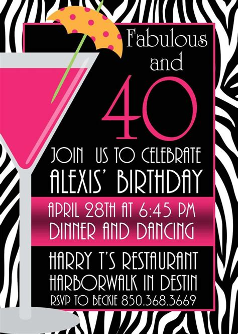 40th birthday invitations templates free 17 best ideas about 40th birthday invitations on