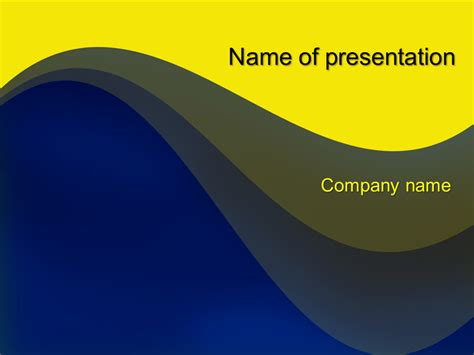 Download Free Yellow Blue Mix Powerpoint Template For Presentation Eureka Templates Where To Powerpoint Templates