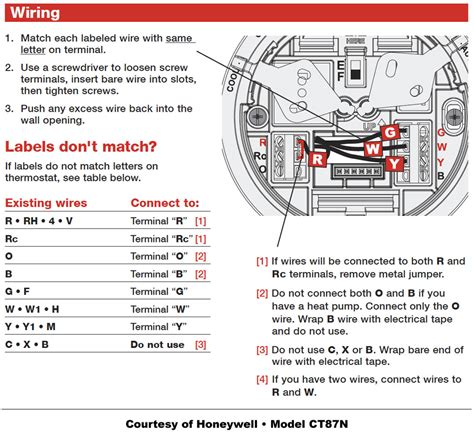 thermostat wiring diagram honeywell mercury
