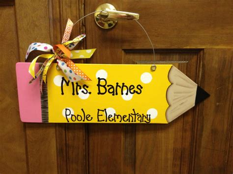 Handmade Door Hangers - handmade pencil wall or door hanger for your favorite