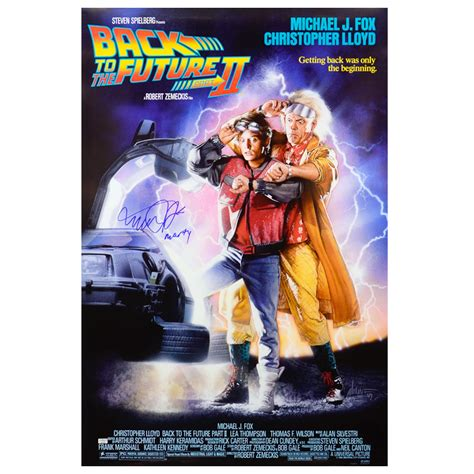 michael j fox back to the future 2 michael j fox autographed 27x40 back to the future part