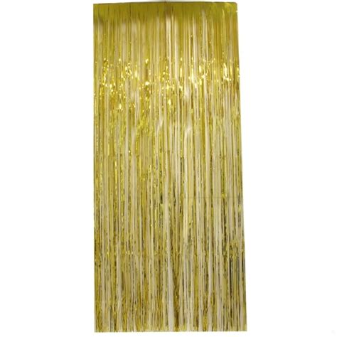 tinsel curtains curtain tinsel foil 90 x 200cm gold pk1 ebay