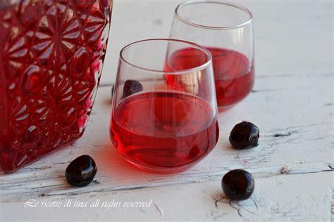 liquore cherry fatto in casa liquore cherry