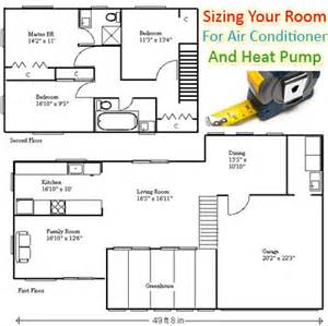 How To Calculate A Room Size how to size a room for air conditioning hvac contractors