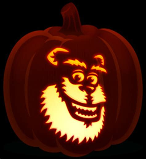 sully pumpkin template disney orange and black pumpkins