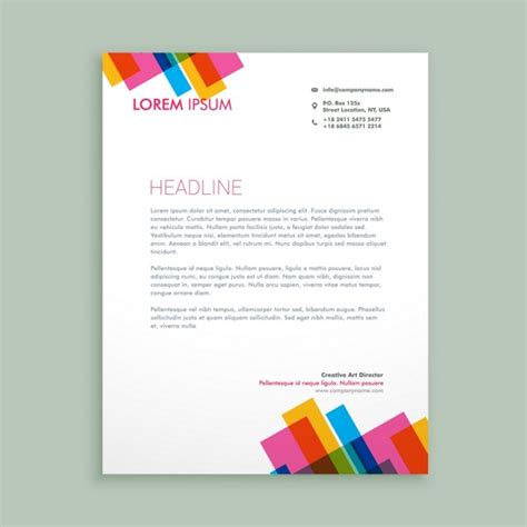 free download stationary layout design vector creative colorful letterhead vector free download