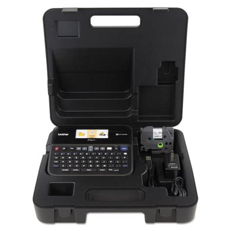 computer case pt in indonesia pt d600vp pc connectable label maker with color display and carry black