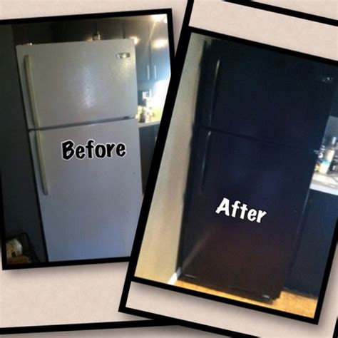 whoa mind blown quot we turned our white refrigerator into a black refrigerator in 1 hr we