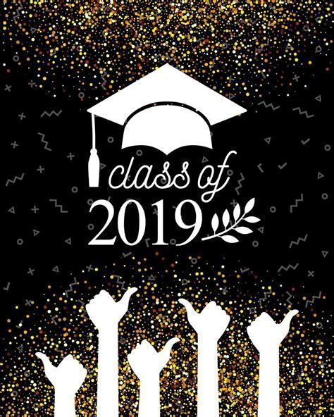 graduation class   banner golden black photography