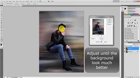 tutorial photoshop cs5 how to blur background photoshop cs5 how to add motion blur on background youtube