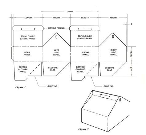 templates for little boxes gable box template and lots of other box templates