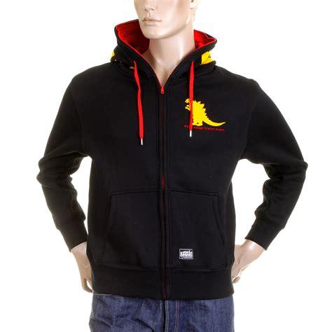 Hoodie Flock Martin Garry godzilla printed black hoodies for by monkey