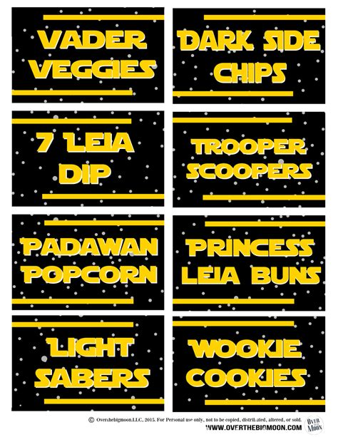 printable star wars drink labels may the 4th be with you star wars food free printables
