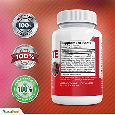 Detox For Intestinal Parasites by Nusapure Intestinal Parasite Cleanse For Humans