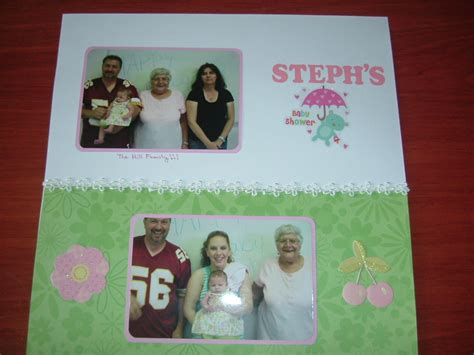 Baby Shower Scrapbook Pages by About Crafting Scrapbooking Two And