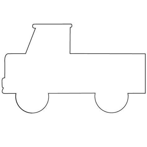 vehicle outline templates image gallery truck templates