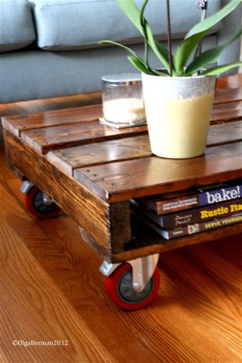 Diy Pallet Coffee Table Wheels Mango Tomato Diy Make Your Own Pallet Coffee Table
