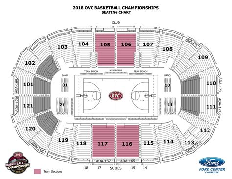 ford center seating evansville indiana ford center evansville indiana seating chart