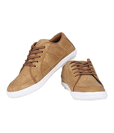buy kraasa brown canvas s casual shoes for