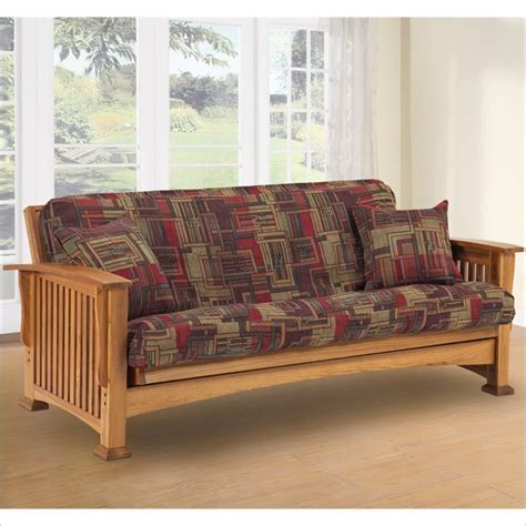 Oak Futon by Lifestyle Solutions Rainer Solid Oak Futon Frame Ebay