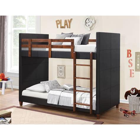 Upholstered Bunk Bed Coaster Upholstered Bunk Bed In Black 460375