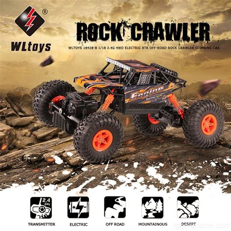 Rc Car Rock Climber Wltoys 18428 B 4wd Propotional wltoys 18428 b 2 4g 4wd electric rtr road rock crawler climbing rc car flash sale rcmoment