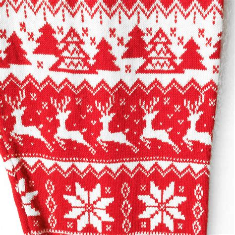 snowflake pattern sweater knit super soft knit red nordic snowflake ugly christmas