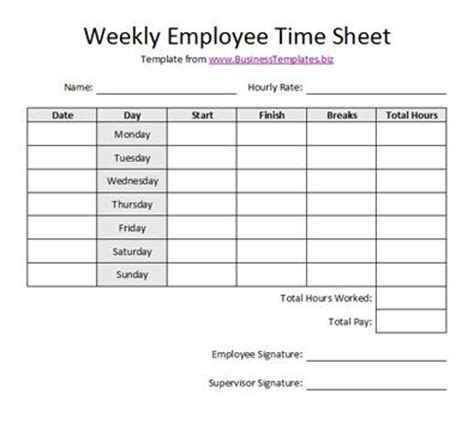 weekly invoice template free printable timesheet templates free weekly employee