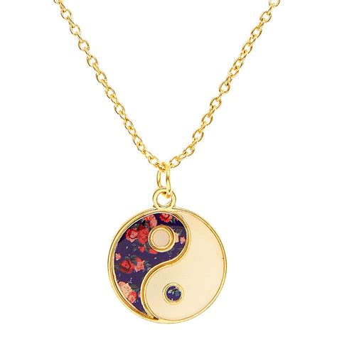 floral yin yang necklace s us