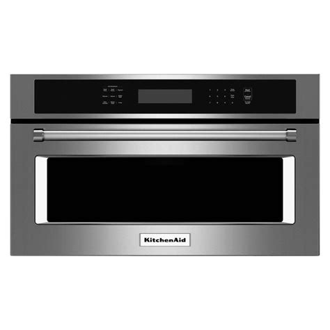 KitchenAid 1.4 cu. ft. Built In Convection Microwave in Stainless Steel KMBP107ESS   The Home Depot