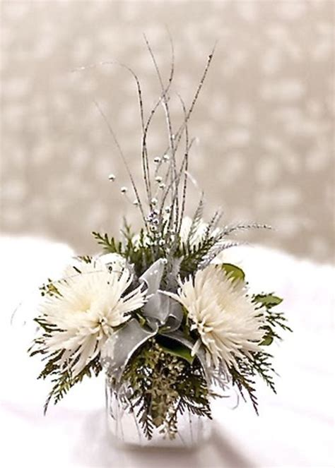 winter flower arrangements holiday tablescapes in white