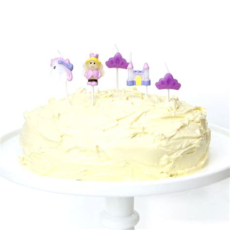 themed birthday candles princess themed birthday cake candles by peach blossom