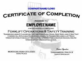 forklift certification template suitable for preparation these would contain