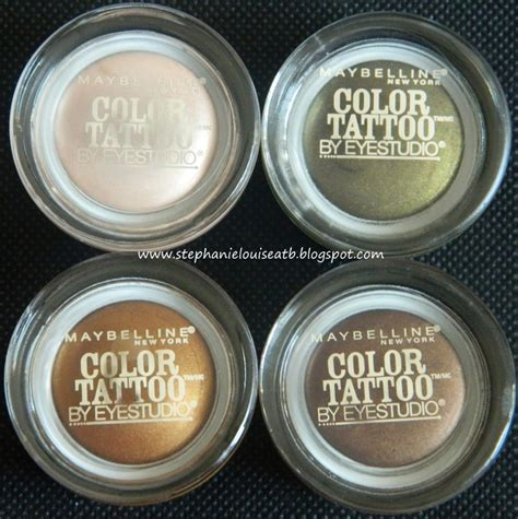Review Color Tattoo Maybelline Indonesia | swatches of the new maybelline limited edition color