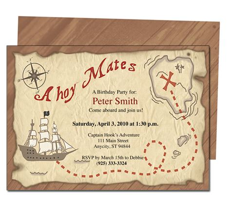 free printable pirates birthday party invitations drevio