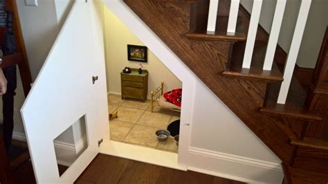 bedroom under the stairs tiny chihuahua lives like harry potter in his room under the stairs
