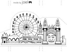 paper city template free city buildings coloring pages
