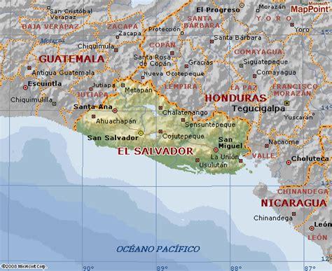 el salvador en el mapa mundi mapa geografico el salvador