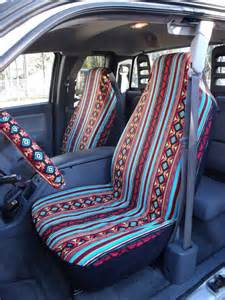 Hippie Car Seat Covers For Sale Reserved For Kenziesmom16 A Set Of Turquoise Rust Aztec