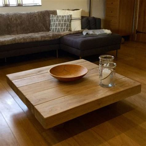 square coffee tables buy floating square oak sleeper