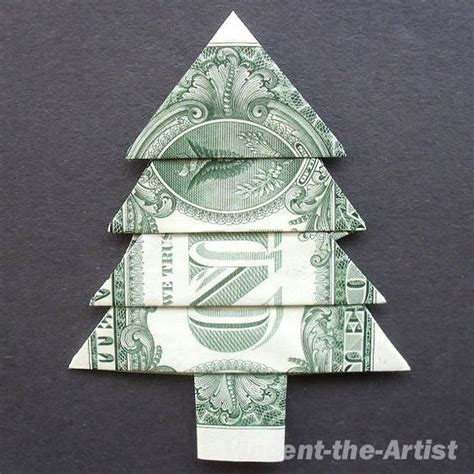Origami 1 Dollar Bill - trees money origami and tree design